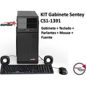 Kit Gabinete Sentey Cs1-1391+parlantes+teclado+mouse+fuente