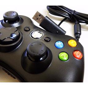 Controle Joystick Feir Usb Xbox 360 E Pc - Apenas Cor Preto