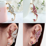 Zarcillo Solitario Ear Cuff Mariposa Mujer Angel Midi Ring