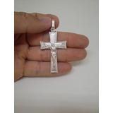 Pingente Masculino Cruz Crucifixo De Prata 950