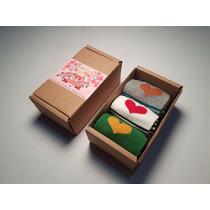 Calcetines Con Diseño - Corazones De Colores (3 Pares)