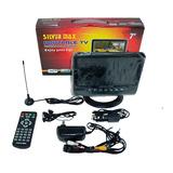 Televisor Portátil Tv Silver Max Sm-701l Cd 7 Pulgadas Carro