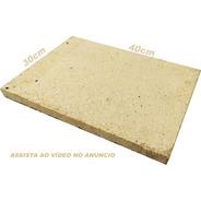Pedra Refratária Pizza, Pão 40x30cm. Forno E Churrasqueira
