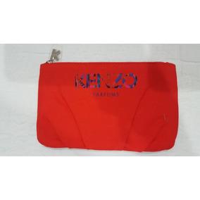Bolso Portacosmeticos Cosmetiquero Monedero Kenzo Rojo Orig.