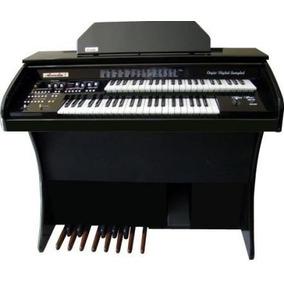 Órgão Eletrônico Digital Acordes - Preto Auto Brilho Serie O