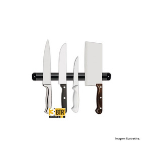 Barra Magnética Imã Facas Cozinha Churrasqueira 33cm