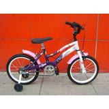 Bicicleta R14 Tipo Playera Freno Manual Nena Olimpia
