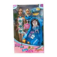 Muneca Kiara En La Playa Con Acces Poppi Doll Ar1 B160