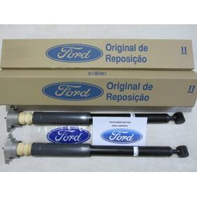 Par Amortecedor Traseiro New Fiesta Kit Batente Coxim Coifa