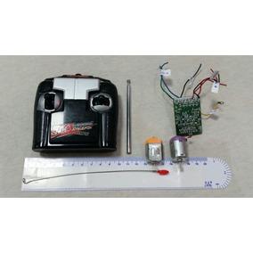 Placa Receptora + Controle + Motores Para Carrinhos Cod 5