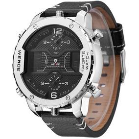 Relógio Marca Luxo Esporte Led Duplo Display Digital Weide