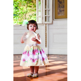Vestido Infantil Festa Criança Bebê Verão Gabriela Aquarela