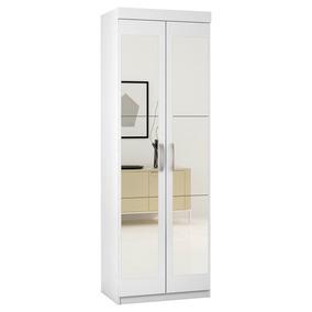Armário Multiuso 62x184cm 2 Portas C/ Espelho - Araplac 7020