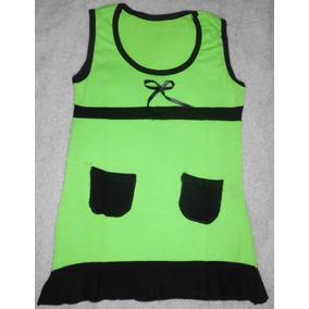 Vestido Playero Verde Ropa Niña Nuevo Tela Suave