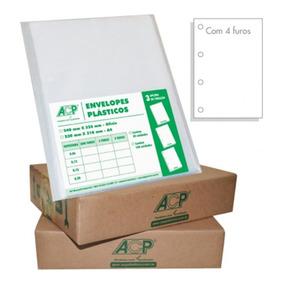 Envelope Saco Plástico A4 4 Furos Médio Cx C/500 Unid Acp