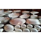 Vajilla Antiguo Juego De Platos Porcelana Checa 94 Piezas