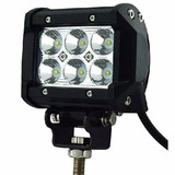 Faro Led Cree Barra 6 Led 18w Cuadrado Jeep 4x4 Off Road Rzr