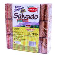 Galletitas De Agua Granix Salvado Crackers 3en1 Tripack 720g