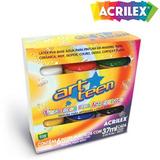 Tinta Fosca Para Artesanato Acrilex C/ 6 Cores 03200