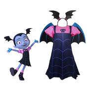Fantasia Infantil Vampirina Halloween Carnaval Completa