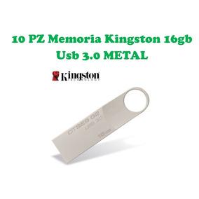 Lote/paquete 10 Memoria Kingston 16gb Usb 3.0 Metal Original