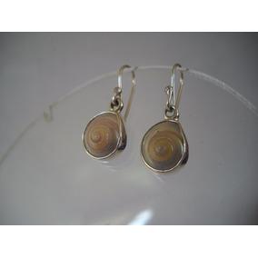 Plata Aretes Concha Sundial Caracol Envío Gratis!! C1