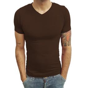 Blusa Camiseta Masculina Decote Em V Rasa Manga Curta