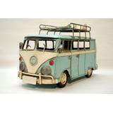 Combie Volkswagen Chapa Replica De Coleccion Decorativa
