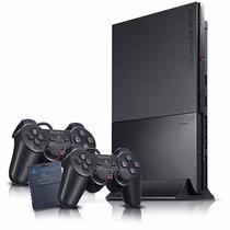 Ps2 Destravado Semi Novo 2 Controles + Memorycard + 20 Jogos