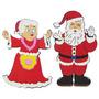 Mamãe E Papai Noel Em Eva Decoração De Natal