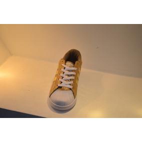 Zapatos adidas Superstar Beige Con Dorado
