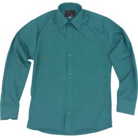 Camisa Infantil Juvenil Salidas Escolares Verde Jade 2 A 16