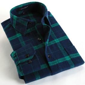 Camisa Xadrez Masculina Slim Importada Flanela Lenhador