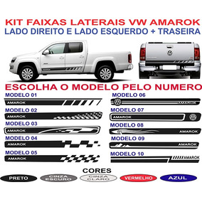 Faixa Lateral E Traseira Vw Amarok Sport Acessorios Kit