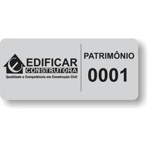 1000 Etiquetas De Patrimônio Controle Bens Da Empresa