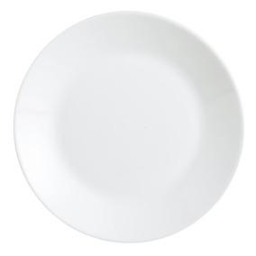 Plato Playo Zelie Arcopal 25cm Vidrio Blanco Opal X6u