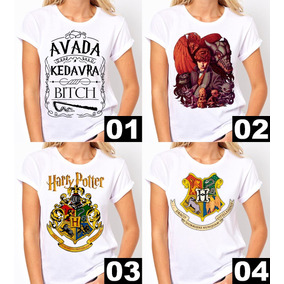 Camiseta Harry Potter Avada Kedavra Bitch Hogwarts Baby Look