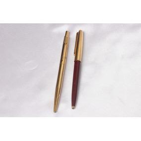Esgerográficas Parker-1 Usa+1 Br-folheadas Ouro-