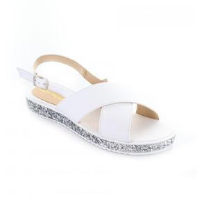 Sandalia Para Mujer Lady Paulina 91505-047932 Color Blanco