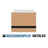 Plancha Laserable Econoply Cobre Cepillado / Negro 60x40cm