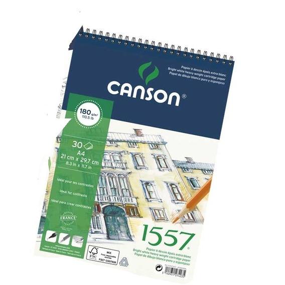 Block Canson 1557 Espiralado A4 30 Hojas Distribuidora Lv