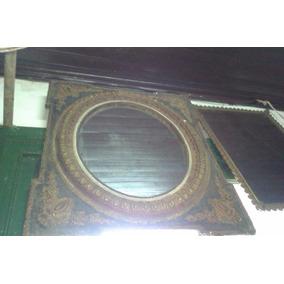 Antiguo Espejo De Madera Y Yeso, Molduras #58
