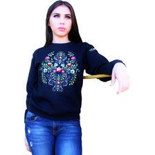 Sudadera Bordada Haydee Flores Mexicanas + Envío