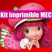 Kit Imprimible Frutillitas Tarjeta Invitacion Candy 2015 2x1
