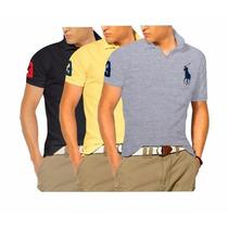 Kit C/05 Camisa Pollo Masculina Varias Marcas Desconto Lucre