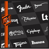 Adesivos - Logos Ibanez, Fender, Gibson, Takamine, Tagima