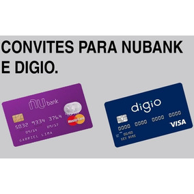 Convite Cartão Nubank + Digio Sem Anuidade