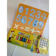 Kit De Brinquedos Educativos Números Letras+massa De Modelar