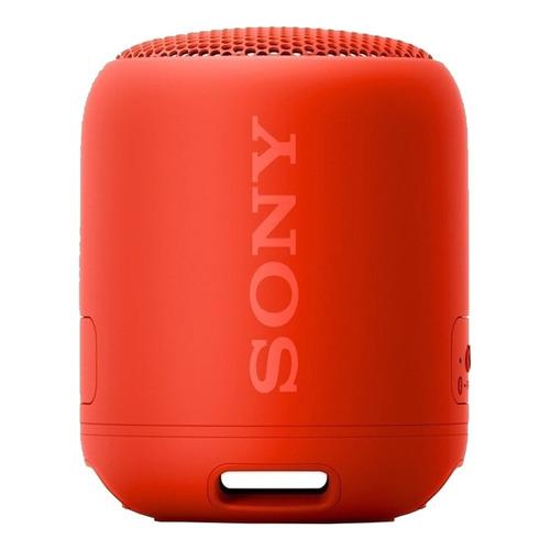 Parlante Sony Extra Bass XB12 portátil con bluetooth rojo