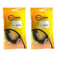 Kit 2 Cabo De Audio Starcable P2 X P2 Stereo 2 Metros